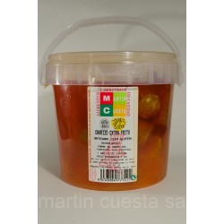 Chorizo frito. Cubo de 1 kg.