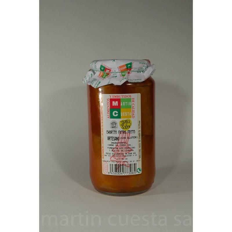 Chorizo frito. Tarro  550 g.